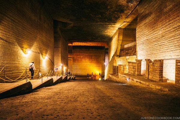 inside oya history museum cave