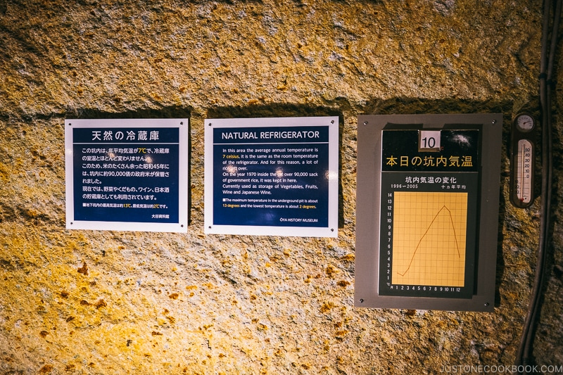 temperature inside underground quarry - Oya History Museum | www.justonecookbook.com