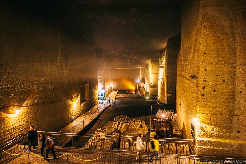 inside underground quarry - Oya History Museum | www.justonecookbook.com
