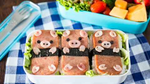 Piggy Spam Musubi Bento Video Just One Cookbook