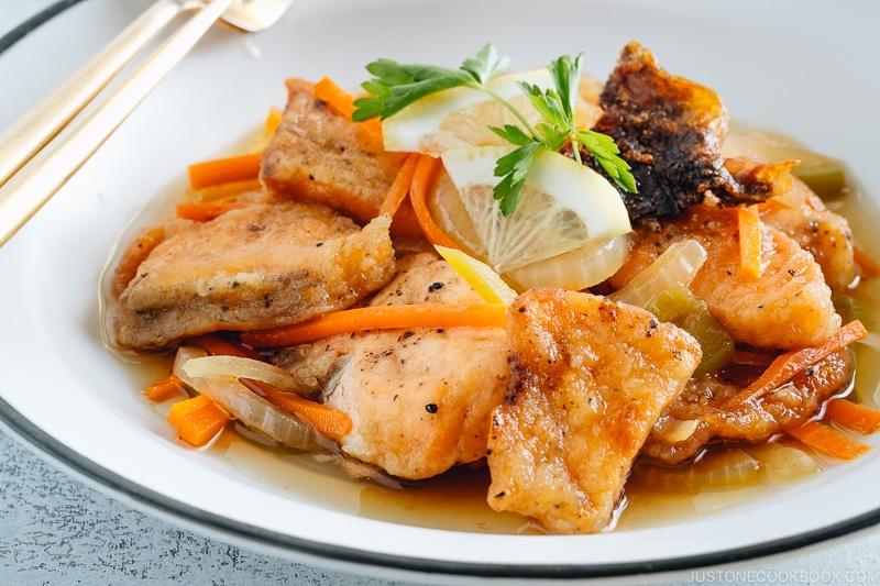 Salmon Nanbanzuke (Marinated Fried Salmon)