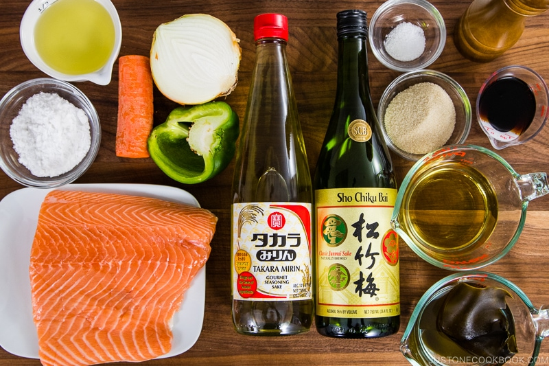 Salmon Nanbanzuke Ingredients