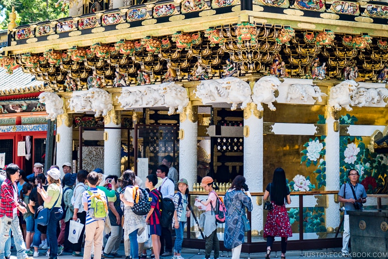 Yomeimon at Toshogu with crowds - Insiders' Guide for For First Time Visitors to Japan | www.justonecookbook.com
