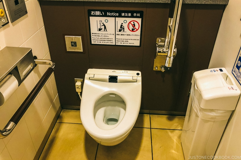 western toilet in Japan - Insiders' Guide for For First Time Visitors to Japan   www.justonecookbook.com
