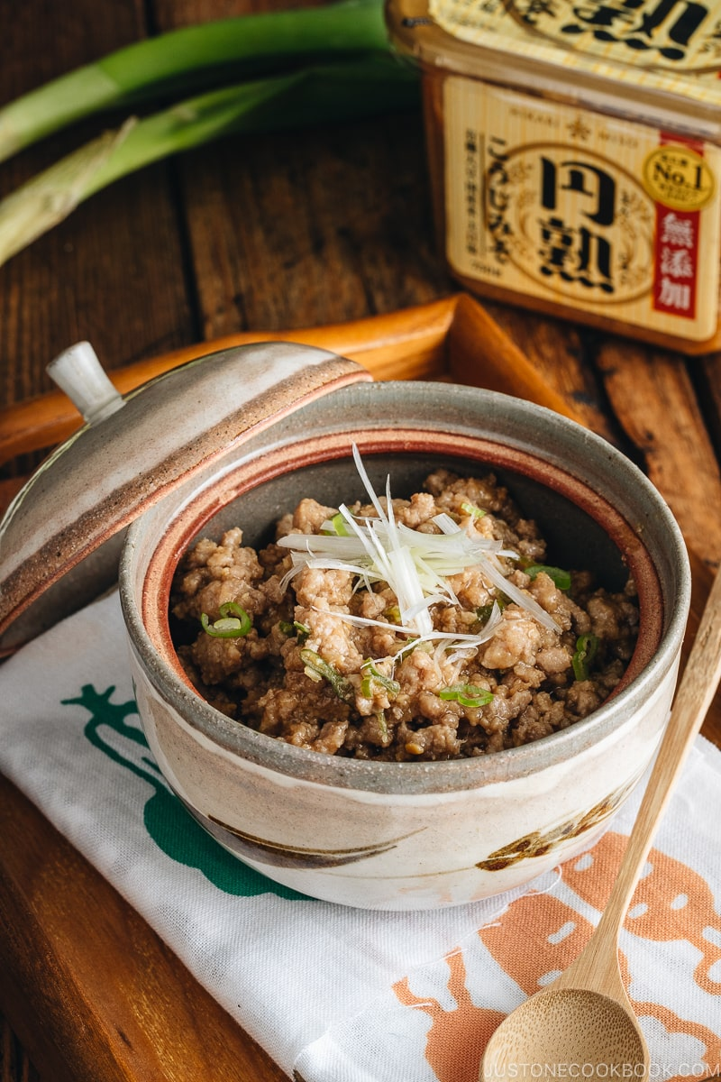 All-Purpose Miso Meat Sauce (Niku Miso) in a serving bowl.