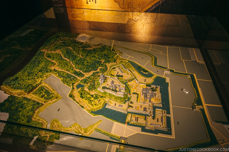 3D model of Odawara Castle and surrounding area - Odawara Castle Guide | www.justonecookbook.com