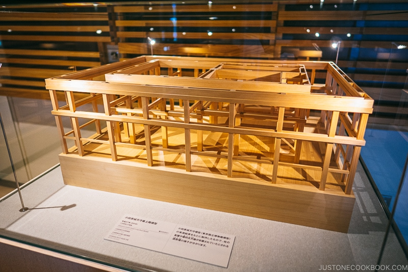 Model structure of Odawara Castle