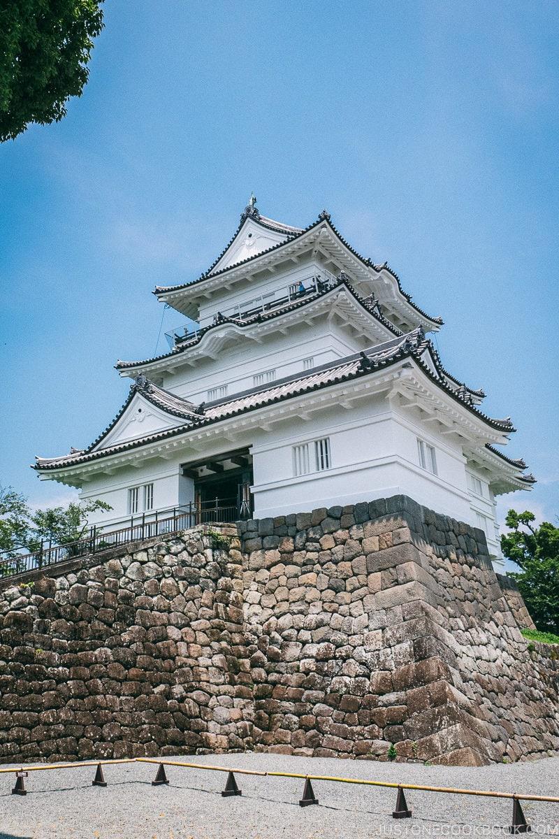 exterior of Odawara Castle - Odawara Castle Guide   www.justonecookbook.com