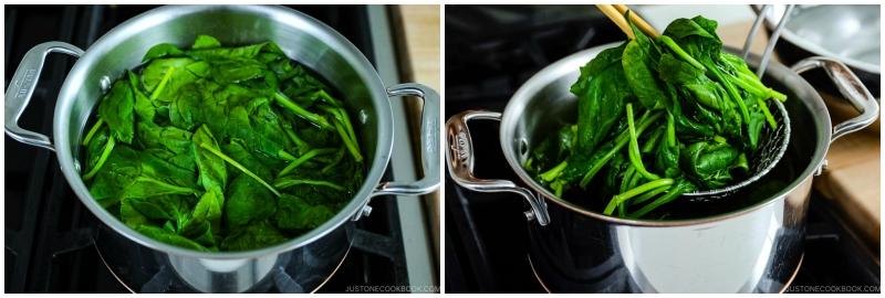 Spinach Ohitashi 7
