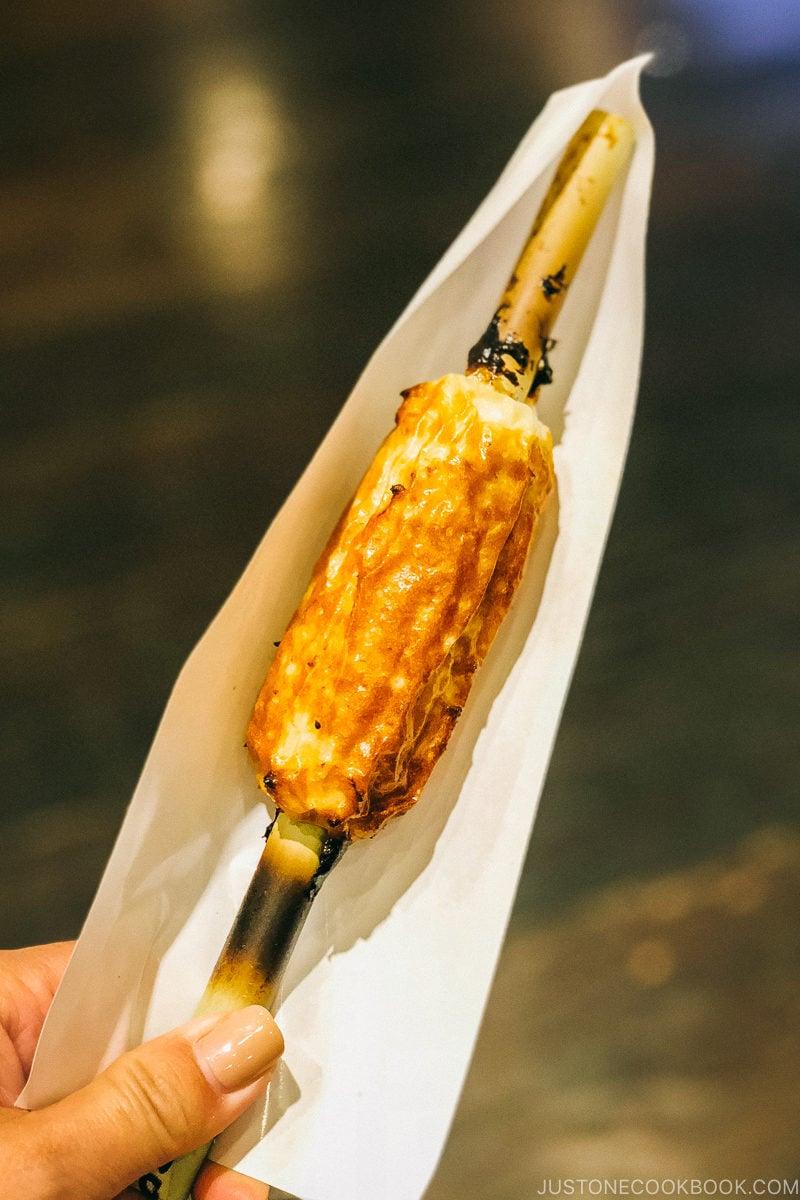 grilled chikuwa - Make Fish Cakes at Suzuhiro Kamaboko Museum | www.justonecookbook.com