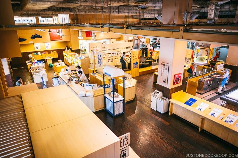 view of Suzuhiro Kamaboko Museum interior - Make Fish Cakes at Suzuhiro Kamaboko Museum | www.justonecookbook.com
