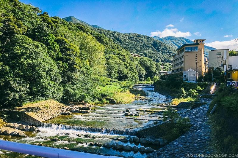 Haya river in Hakone Yumoto - Hakone-Yumoto and Hakone Freepass Guide | www.justonecookbook.com
