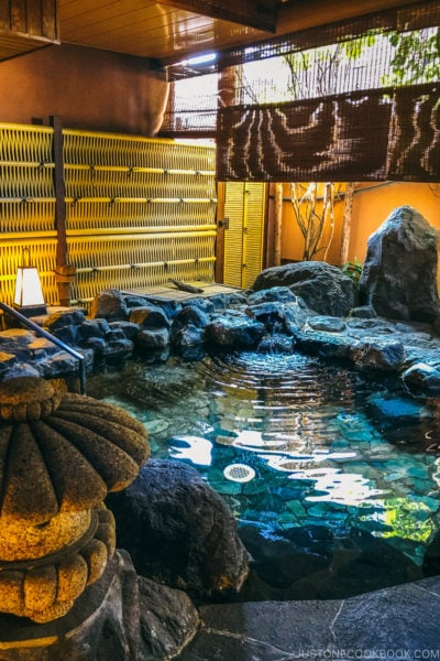 outdoor hotspring - Onsen Etiquette: Your Guide to Japanese Hot Springs | www.justonecookbook.com