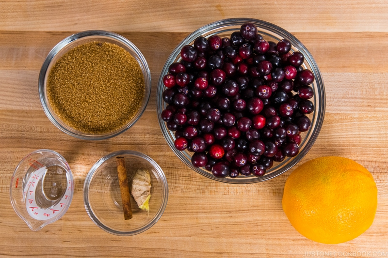 Easy Orange Ginger Cranberry Sauce Ingredients