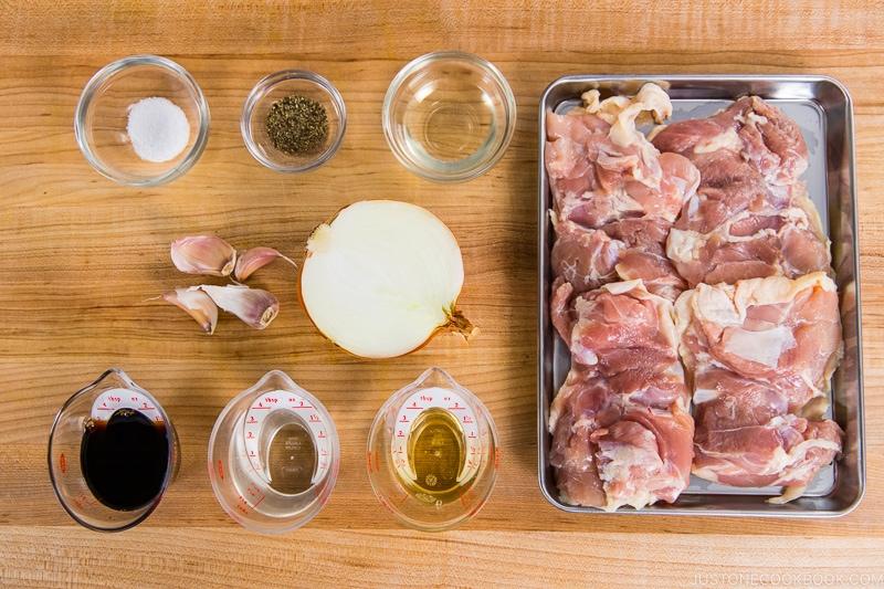 Garlic Onion Chicken Ingredients