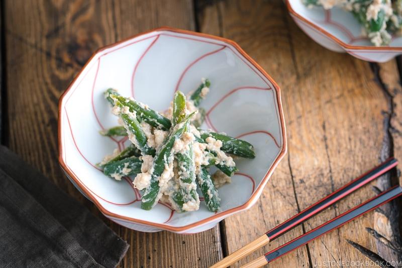 Green Bean Shiraae (Mashed Tofu Salad) ????????