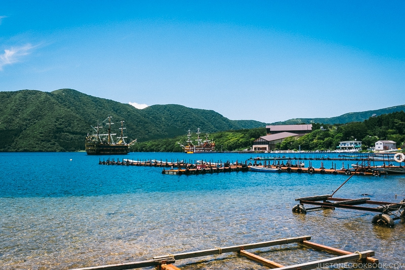Hakone Pirate ships and Togendai Station - Hakone Lake Ashi Guide | www.justonecookbook.com