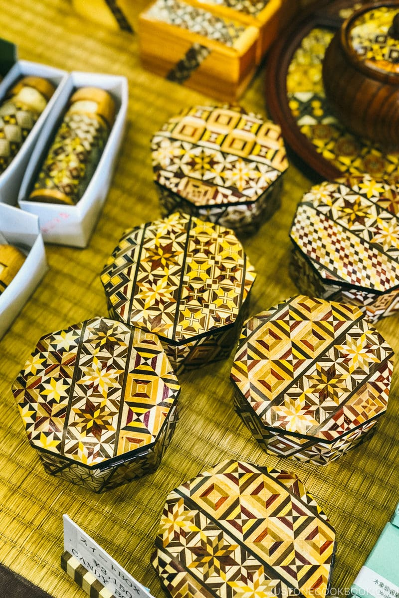 Japanese wood puzzle boxes