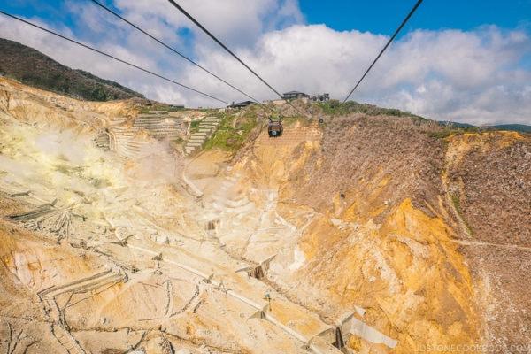 Hakone Ropeway at Owakudani - Hakone Ropeway and Owakudani Hell Valley | www.justonecookbook.com