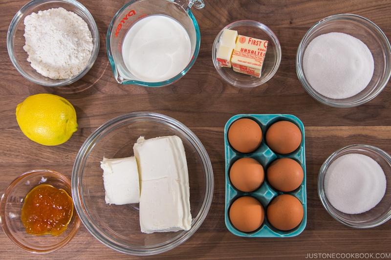 Japanese Cheesecake Ingredients