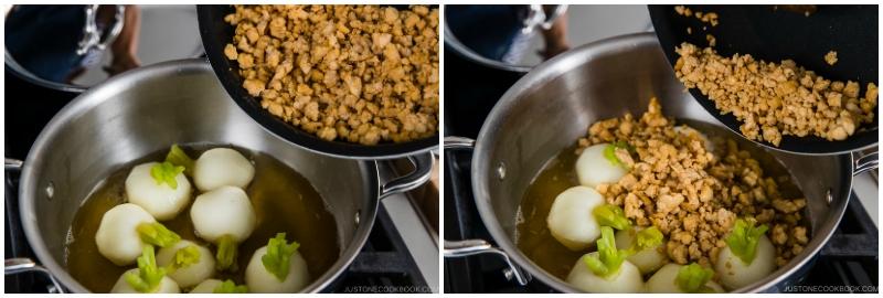 Japanese Turnips with Soboro Ankake Sauce 12