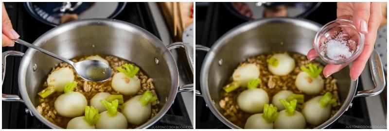 Japanese Turnips with Soboro Ankake Sauce 13