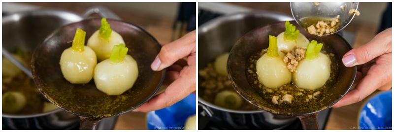 Japanese Turnips with Soboro Ankake Sauce 16