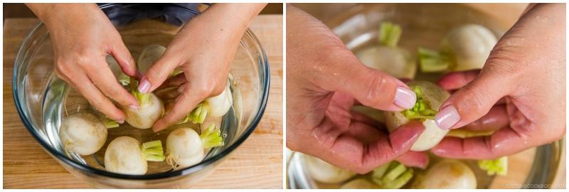 Japanese Turnips with Soboro Ankake Sauce 2