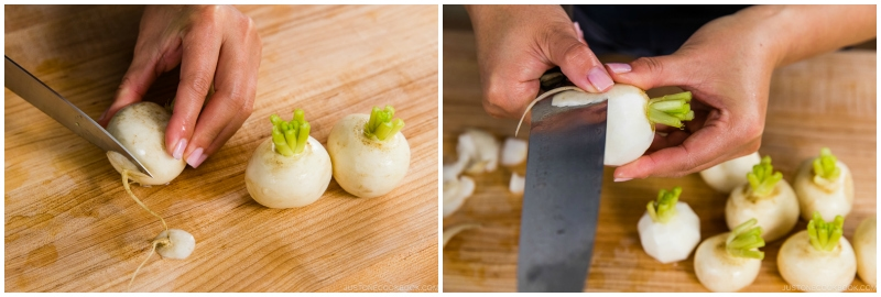 Japanese Turnips with Soboro Ankake Sauce 3