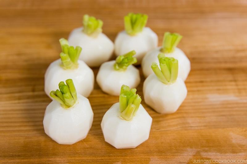 Japanese Turnips with Soboro Ankake Sauce 4
