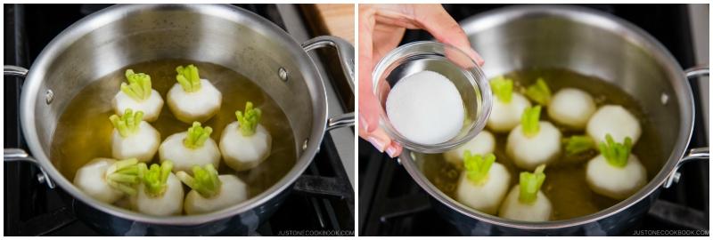 Japanese Turnips with Soboro Ankake Sauce 6