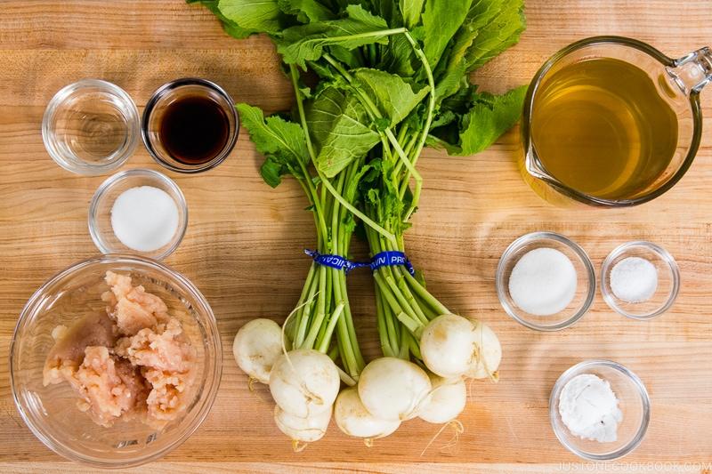 Japanese Turnips with Soboro Ankake Sauce Ingredients