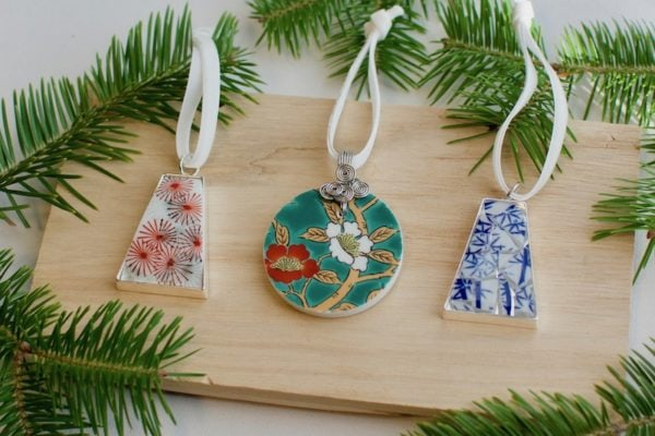 Christmas ornaments handmade with love from Nozomi Project