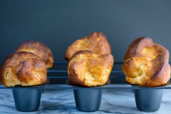 Popovers placed in the special popover pans.