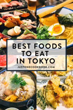 best foods to eat in tokyo japan, including best sushi and local street foods