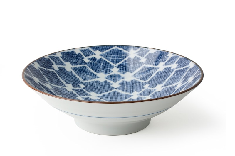A close up of a Japanese bowl by Miya Company