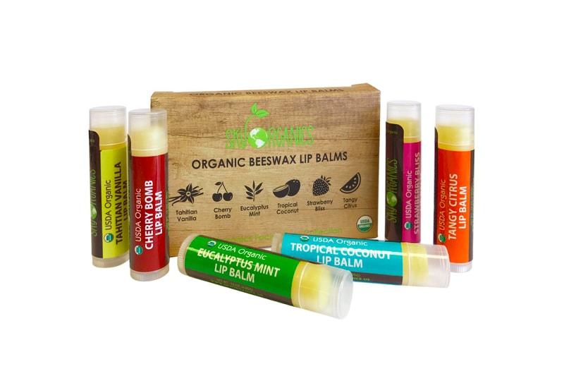 organice beeswax lip balm set