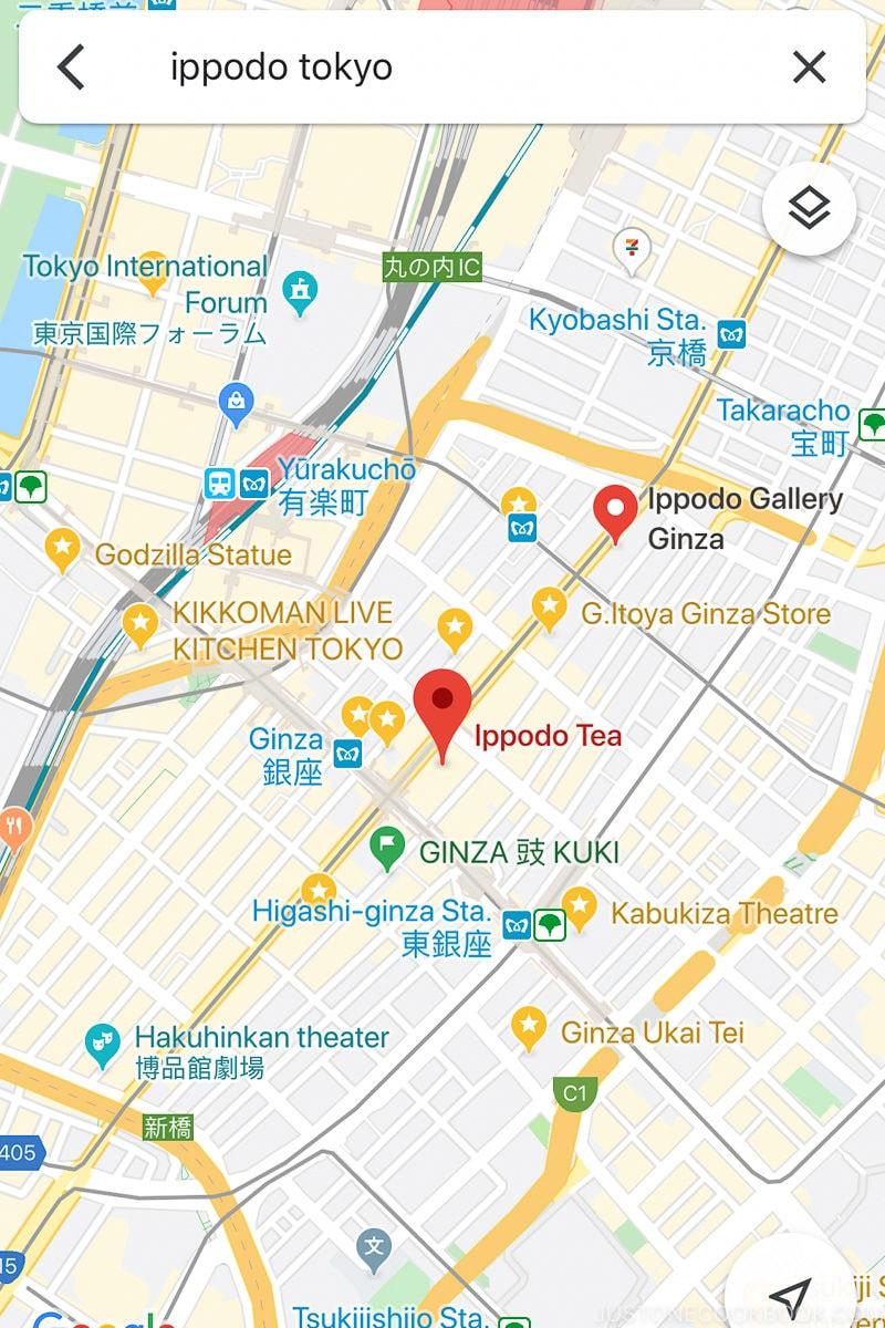 Google Maps Ippodo Tokyo - Guide to Japan Wifi for Visitors | www.justonecookbook.com