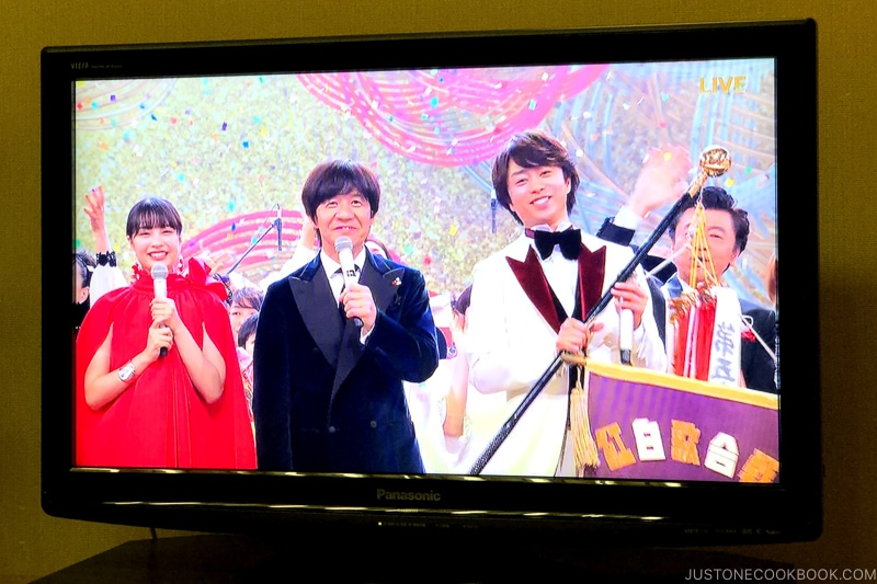 NHK Kōhaku Uta Gassen on TV - Celebrate New Year at Isawa Onsen in Yamanishi | www.justonecookbook.com