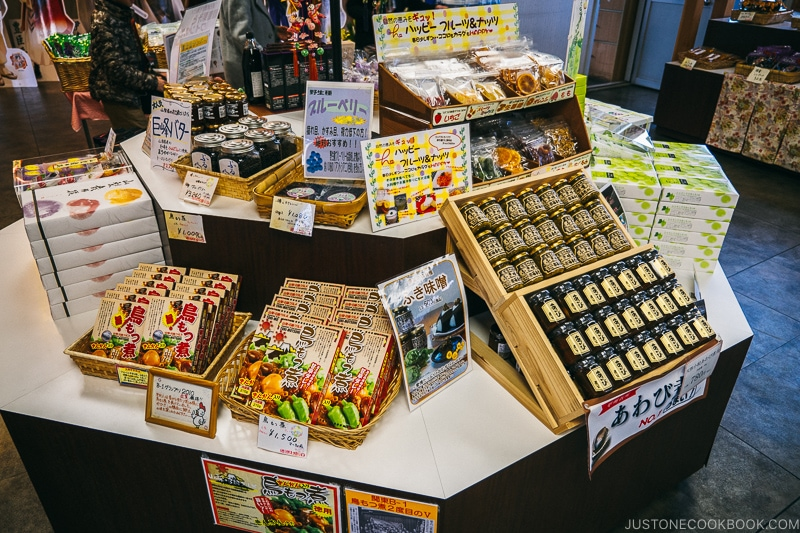 Yamanashi prefecture souvenir in the gift shop - Celebrate New Year at Isawa Onsen in Yamanishi | www.justonecookbook.com
