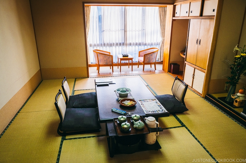 Standard room at Hotel Sekifu - Celebrate New Year at Isawa Onsen in Yamanishi | www.justonecookbook.com