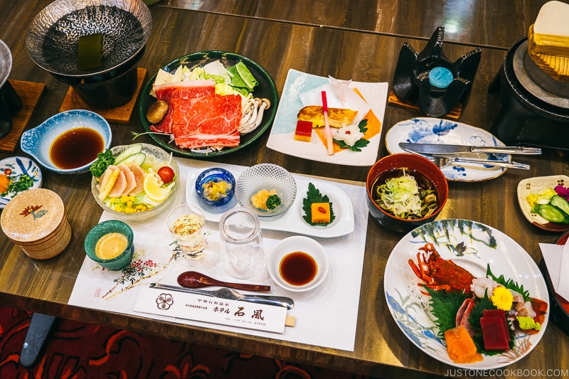 New Year's eve dinner at Hotel Sekifu - Celebrate New Year at Isawa Onsen in Yamanishi | www.justonecookbook.com
