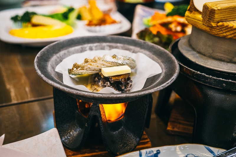 Grilled abalone - Celebrate New Year at Isawa Onsen in Yamanishi | www.justonecookbook.com
