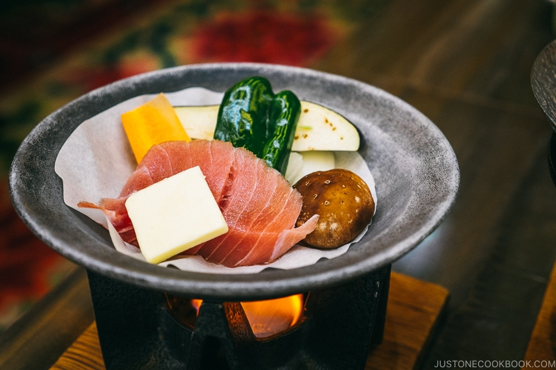 Grilled tuna and vegetables - Celebrate New Year at Isawa Onsen in Yamanishi | www.justonecookbook.com