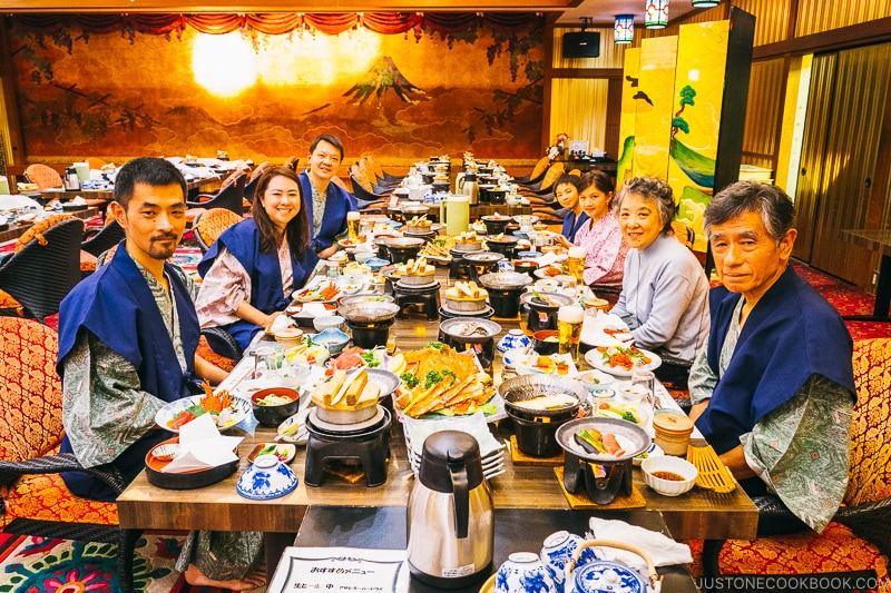 New Year's eve family dinner at Hotel Sekifu - Celebrate New Year at Isawa Onsen in Yamanishi | www.justonecookbook.com