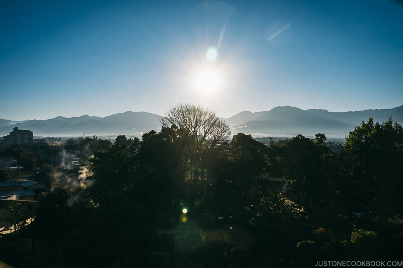 Sunrise on New Year's day - Celebrate New Year at Isawa Onsen in Yamanishi | www.justonecookbook.com