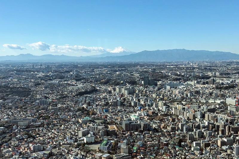 Mt. Fuji from Yokohama Landmark Tower - Things to do around Lake Kawaguchi   www.justonecookbook.com