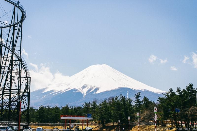 view of Mt. Fuji from Fuji-Q Highland - Things to do around Lake Kawaguchi   www.justonecookbook.com