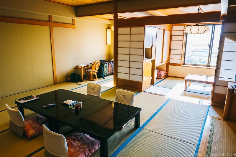Hotel room with sitting area - Things to do around Lake Kawaguchi   www.justonecookbook.com