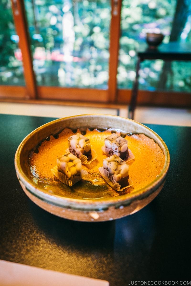 Japanese sweet - Wagashi at Hotel Kaneyamaen - Things to do around Lake Kawaguchi   www.justonecookbook.com